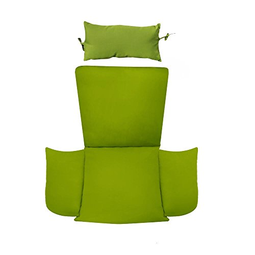 Cheap Island Gale Hanging Basket Chair Cushion Replacement with Head Pillow by, Removable Cover, with Attached ties (Green)