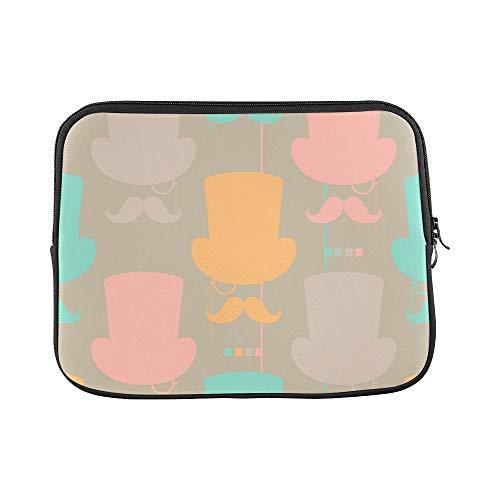 (Design Custom Hat Gentleman Hand-Painted Creative Sleeve Soft Laptop Case Bag Pouch Skin for MacBook Air 11