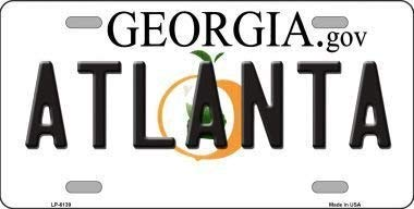 NNHG Tin Sign 8x12 inches Smart Blonde LP-6139 Atlanta Georgia Novelty Metal License Plate