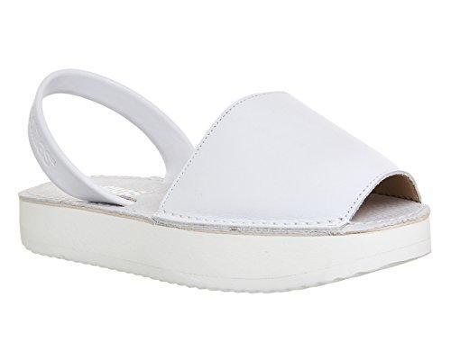 Solillas , Damen Sandalen Weiß weiß