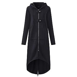 Veste Kimono Gilet Blazer Manteau Hiver Femme Chaud Fermeture éclair Ouvrir Hoodies Sweat-Shirt Longue Hauts Vêtements d…