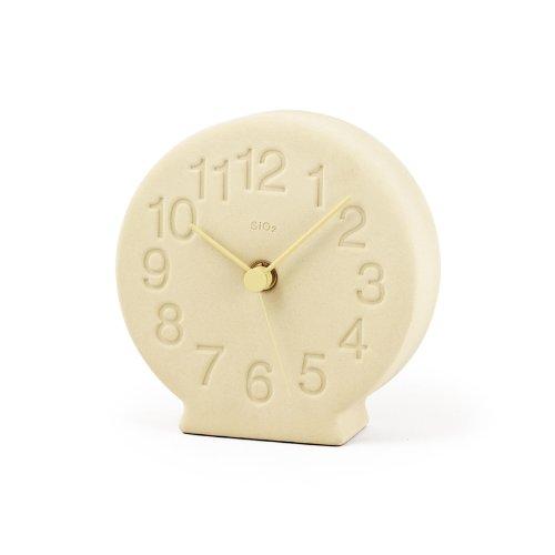 Lemnos 珪藻土の置時計 イエロー NY13-15 YE B00H93LU2S イエロー イエロー