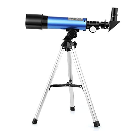 Telescopio para Niños Refractivo 50/360mm Telescopio con Trípode Nivel Entrada Regalo para Niños