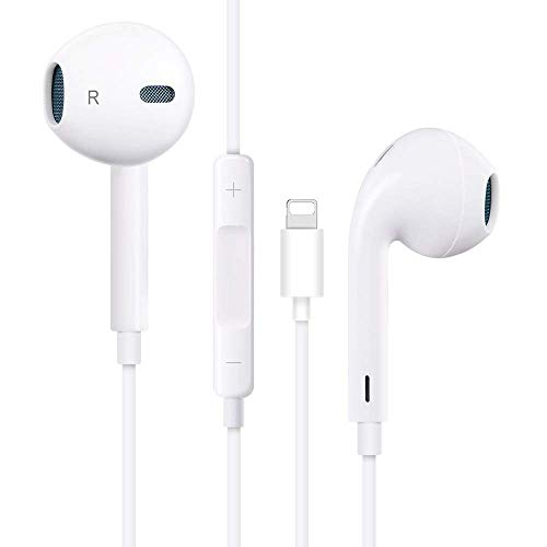 Earphones, with Microphone Earbuds Stereo Headphones and Noise Isolating Headset Made Compatible with Phone XR/XS Max/XS/X/8/Plus/7/Plus