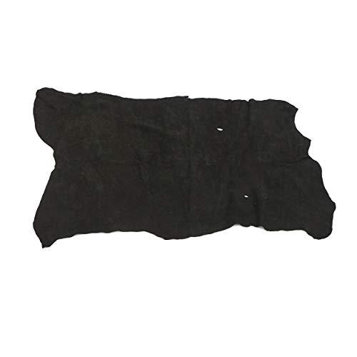 Large Black Velvet Pigskin Split Leather Hide - 1.5-2 oz Pig Suede 6-8 sq ft