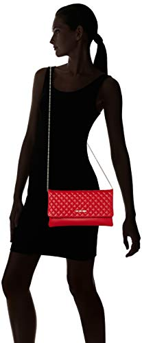 Love Women's rosso Red Borsa Nappa Bag Pu Quilted Moschino Shoulder rf5Bwqzrx