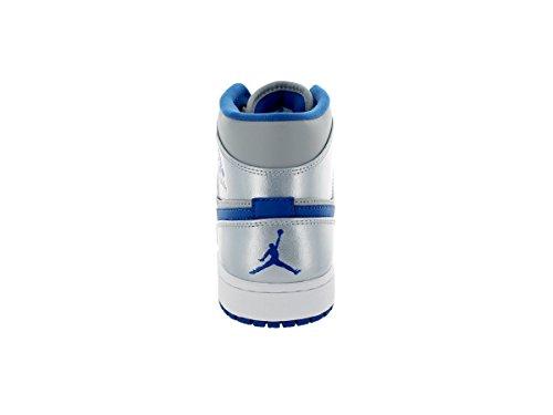 NIKE 554724 025 - Zapatillas de baloncesto de piel sintética hombre gris