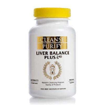 Cleanse Purify Liver Balance Plus 240 Tablets by Pure Body Institute of Ventura