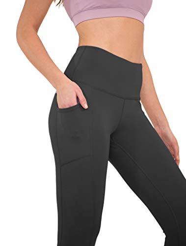 5ec31ce16dd60 90 Degree By Reflex High Waist Tummy Control Interlink Squat Proof Ankle  Length Leggings - Black