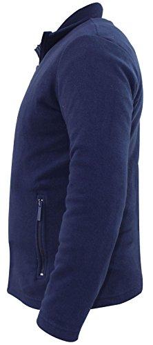 Full Polaire Navy True Veste Nouveau Pockets Face Zipper Hommes Top BqXUw