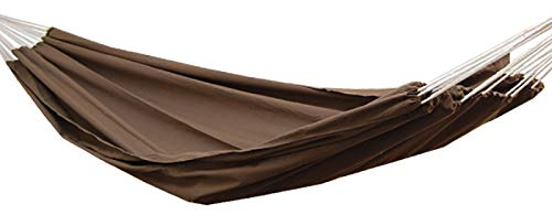 AMANKA Hammock XXL Hanging Lounger 400x160cm Several People Garden Swing Fabric Seat Washable Cloth 100% Cotton Load up to 150kg Beige eyepower 12367