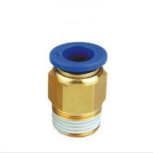 2 Units 8mm or 5//16 OD to 1//8 NPT Male Straight Push in Connect Tube Fitting