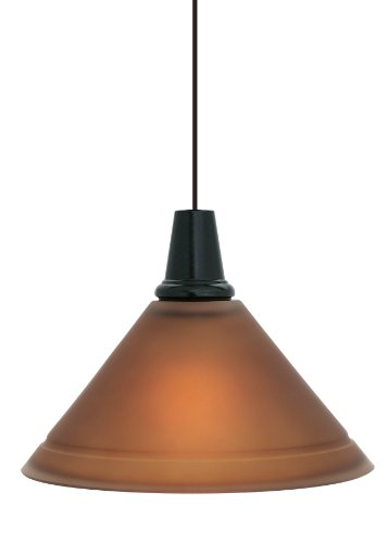 Ruggine Finish (LBL Lighting HS214RUSC2G60 Nube 214 1-Light Pendant with Ruggine Glass Shade, Satin Nickel)
