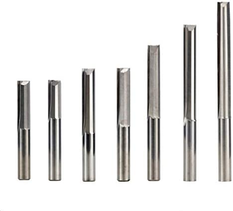 SHENYUAN 2 Flute Straight End Mill CNC Router Bit 10pcs 4/6mm Shank for Wood MDF Plastic Engraving Tool Tungsten Carbide Milling Cutter (Size : 4x25mm)