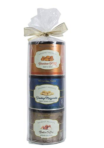 Nut Assortment Gift Tower For Men Adults BBQ Mozerrella Toffee Classic 3pc