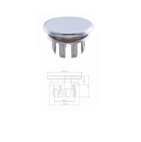 Bathroom Overflow Covers For Basin Sink Chrome Replacement Lavatory Hole F3