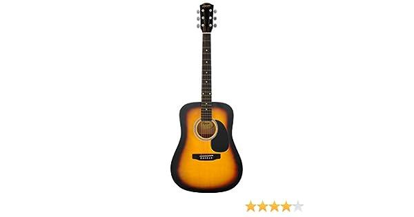 Fender 0930306006 Squier Dreadnought SA-105 - Guitarra eléctrica, color negro, sunburst: Amazon.es: Instrumentos musicales