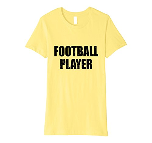 Womens Football Player Halloween Costume Party Cute & Funny T shirt Small Lemon - Female Football Player Costume