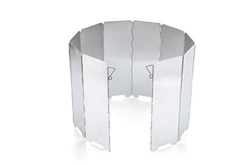 Diswoe Faltbar Aluminium Windschutz, 10 Stücke Outdoor-Aluminium-Windschutz für Campingkocher, Gaskocher