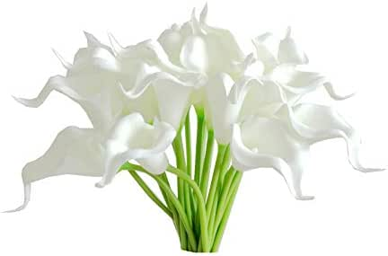 Mandy's 20pcs White Artificial Calla Lily Flowers 13.4