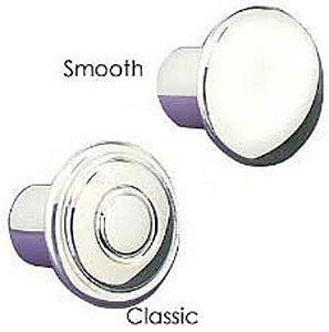 (Billet Specialties 26003 Polished Smooth Dash Knob for 3/16
