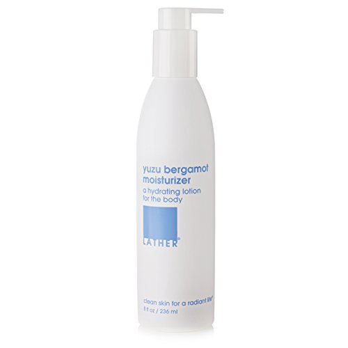 LATHER Yuzu Bergamot Moisturizer 8 oz - a fast-absorbing, hydrating moisturizer for the body, scented with a blend of yuzu and bergamot essential oils