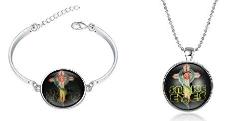 Gnzoe Jewelry Set Glow in Dark Night Light Noctilucence Bangle Bracelet Cuff Bracelet Chain 6-8