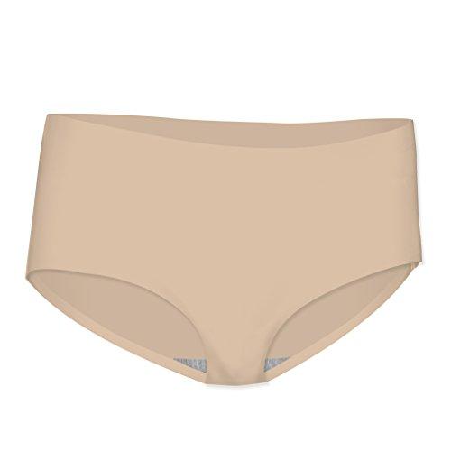 Boyshort Hugger Hip Spandex (Watson's Ladies Invisbile Underwear Hip Hugger Hipster, NUDE, Small)