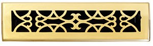 - Brass Elegans 120B PLB Solid Cast Brass Victorian 2-1/4-Inch by 12-Inch Floor Register, Polished Brass Finish Model