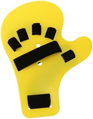 HEALIFTY fingerorthese bord hand fraktur fixierung unterstützung für tendinitis verstauchung arthritis dislokation (gelbe linke hand)