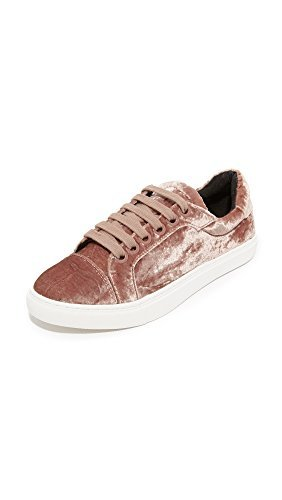 Rebecca Minkoff Women's Bleecker Too Velvet Sneakers, Berry Smoothie, 10 B(M) US