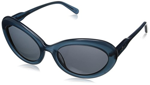 7 For All Mankind Women's 7903 Oval Sunglasses, Light Blue, 55 - For Mankind Seven All Glasses