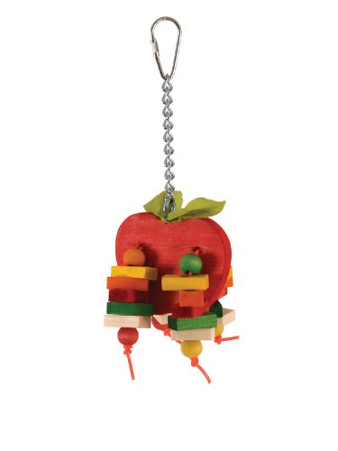 Paradise Bird Toy Small Apple 23 x 8cm Health Interactive Ornament Cage
