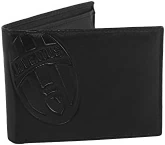 Wallet man JUVENTUS black in leather with coin purse and flap A5505