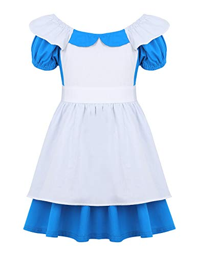 Freebily Baby Girls Alice in Wonderland Fairy Tale Princess Fancy Dress Maid Lolita Cosplay Costume Birthday Party Outfits Light Blue 18-24 Months]()