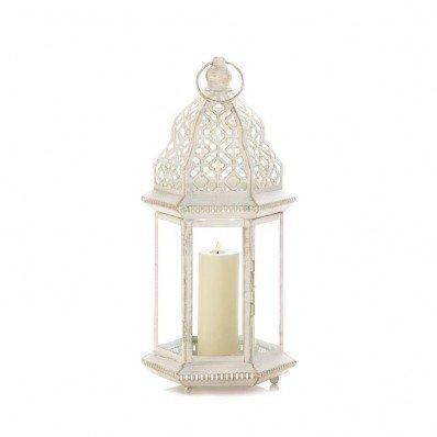 KOEHLER 10017452 Sunshine Megastore Sublime Distressed White Large Lantern