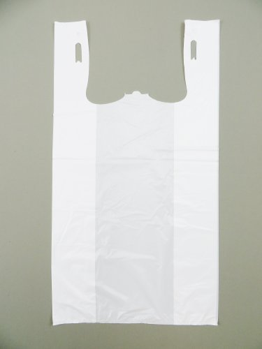 Plastic Bag-Standard White Plain T-Shirt Bag 11.5