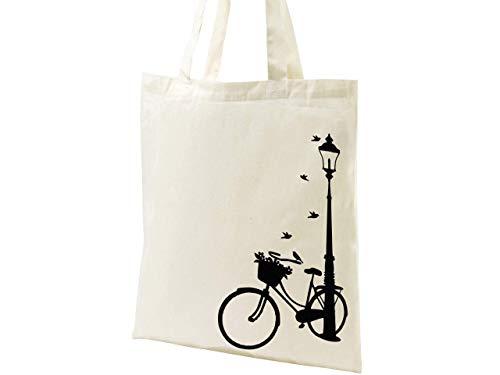 Una Bicicleta en la Ciudad Bolsa de Tela Bolso Tote Bolsa de Algodón Bolsa de Lona Regalo Detalle para Hombre y Mujer: Amazon.es: Handmade