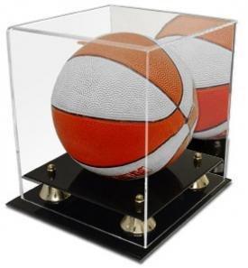 - Collectible Deluxe Acrylic NBA - NCAA Mini Basketball Display Case - With Mirror