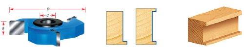 Amana Tool SC672 Carbide Tipped 3-Wing Straight Edge 1-7//8 Dia x 1//4 x 1//2 /& 3//4 Bore