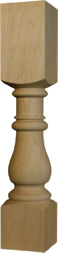 Country Squire Dining Table Leg in Knotty Pine - Dimensions 29 x 5 inches