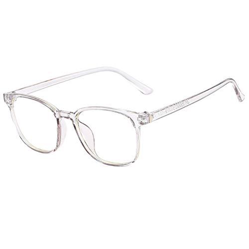 Alimao Round Frame Anti Blue Ray Reading Glasses,UV Filter Lens Lightweight Frame Eyeglasses,Men/Women for Prescription Lens ()