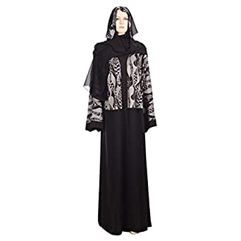 Abuhaliqa Black Casual Abaya For Women