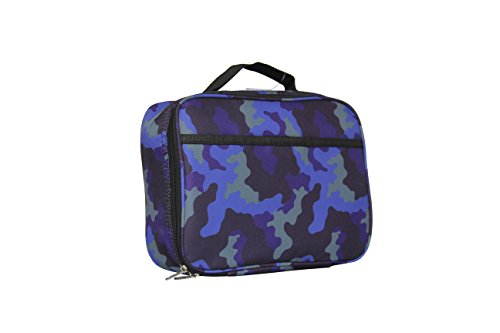 """Kids Lunch Box for Elementary School Boys and Girls by Fenrici   Flexible Soft Sided Compartments   Spacious   Insulated   Food Safe   10""""W x 7.5""""H x 3""""D   Aqua   Support A Great Cause"""