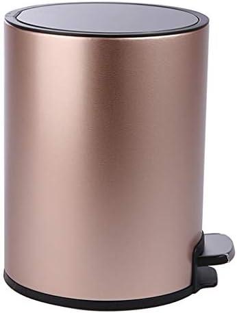 キッチンゴミ箱 蓋付きのごみビン-7&12Liters(1.8&3ガロン)サイレントごみ箱、家庭用ステンレス鋼のゴミ箱は、バスルームのベッドルームオフィス用の缶をゴミ箱 ごみ収集 (サイズ : M)