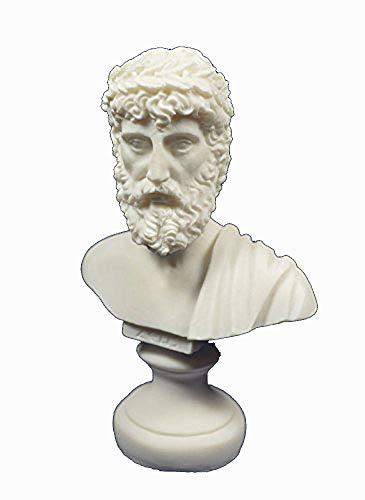 Estia Creations Zeus Sculpture Ancient Greek Bust King of All Gods Statue