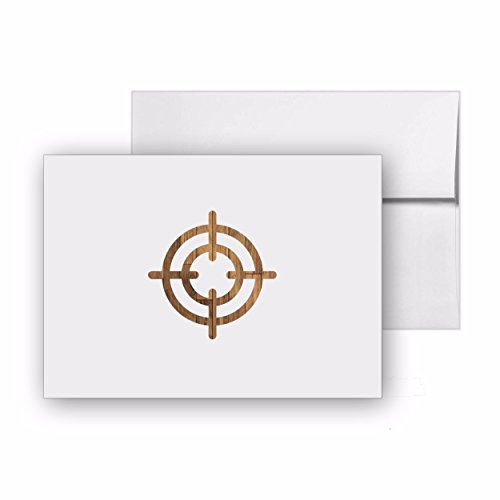 Aim Crosshair Target, Blank Card Invitation Pack, 15 cards at 4x6, with White Envelopes, Item ()