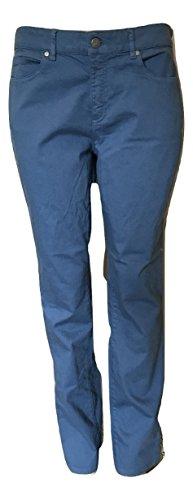 Eileen Fisher Women's Organic Cotton Stretch Twill Lean Jeans, Lupene (Blue), 12