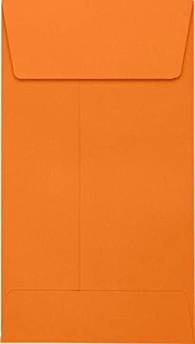 250 Qty. Jewelry #5 1//2 Coin Envelopes LUX-512CO-11-250 | Perfect for Storing Small Parts Small Electronic Parts and so Much More! Coins Seeds - Mandarin 3 1//8 x 5 1//2 Stamps