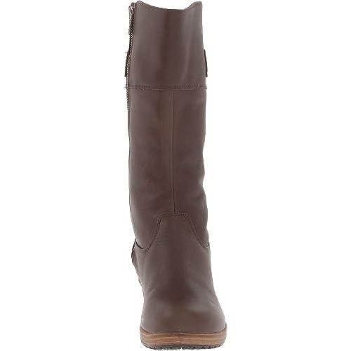 c41da9cda 85% OFF Crocs A-Leigh Leather Boot W - Botas de cuero mujer - www ...